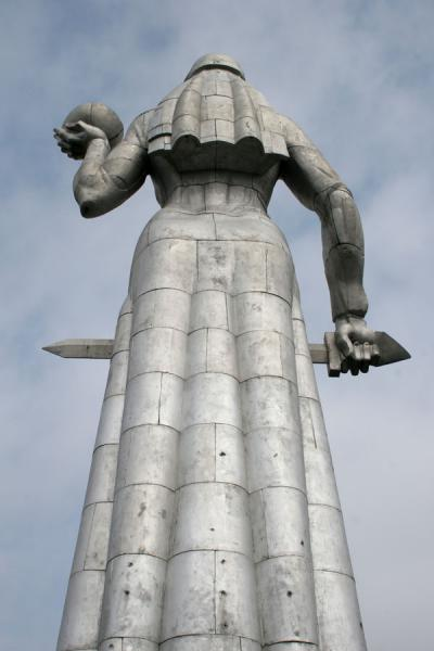 Picture of Kartlis Deda, or Mother Georgia, statue seen from behindTbilisi - Georgia