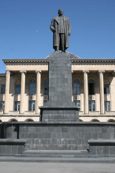 Although not part of the museum: Stalin's statue in Gori | Stalin Museum | Georgia