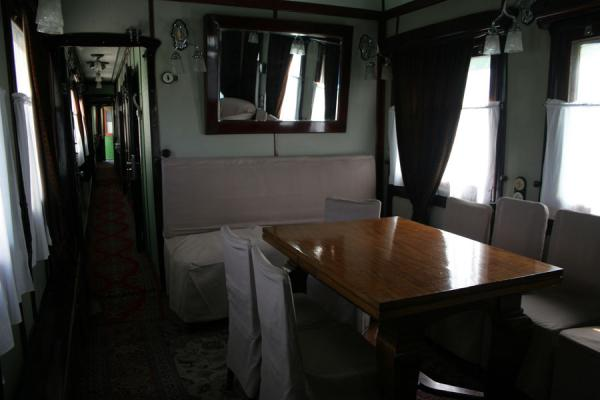 Stalin's conference room inside his railway carriage | Stalin Museum | Georgia