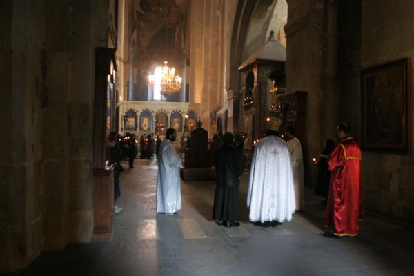 Mass inside Sveti-Tshkoveli cathedral | Sveti-Tshkoveli Cathedral | Georgia