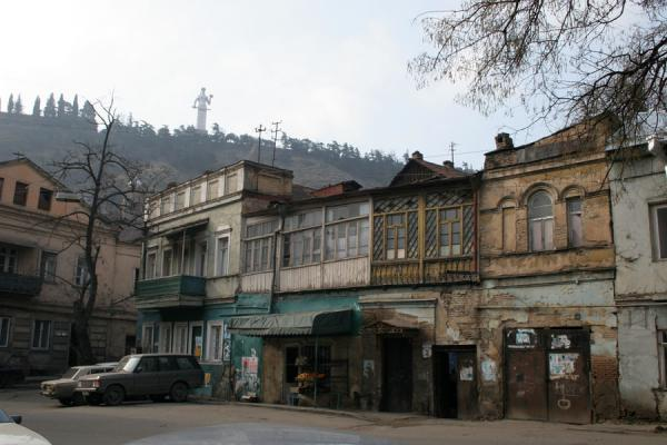 Picture of Small square in Tbilisi with statue of Kartlis Deda in the backgroundTbilisi - Georgia