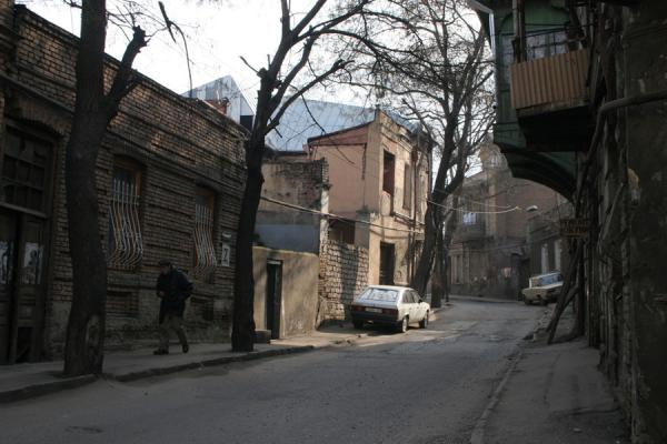 Foto di Quiet street in the old town of TbilisiTbilisi - Georgia