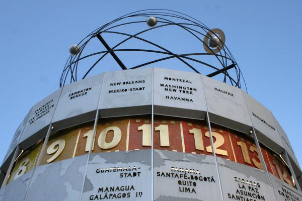 Picture of Berlin Alexanderplatz: world clock on the square