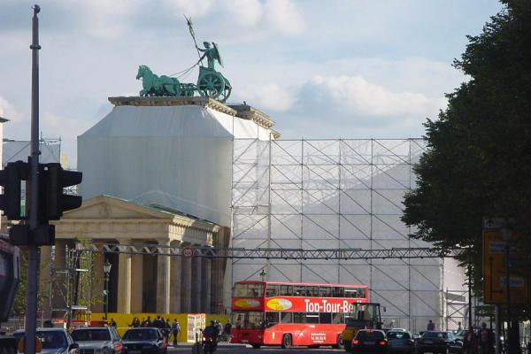 The Brandenburger Tor when it was still being restored | Brandenburger Tor | Germany