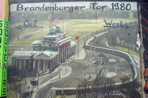 The old, divided Berlin depicted on one of the last remaining pieces of its wall | East Side Gallery | Germany
