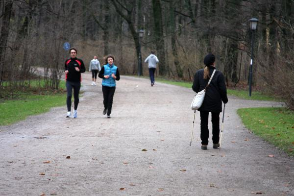 Foto di Runners and walkers in the Englischer Garten - Germania - Europa