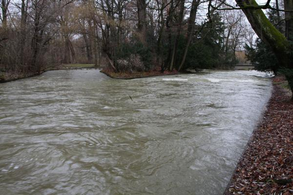 Foto di Icy Eisbach running through the Englischer Garten - Germania - Europa