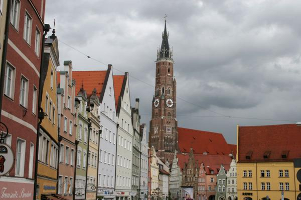 Picture of One of the churches dominating the skyline of LandshutLandshut - Germany