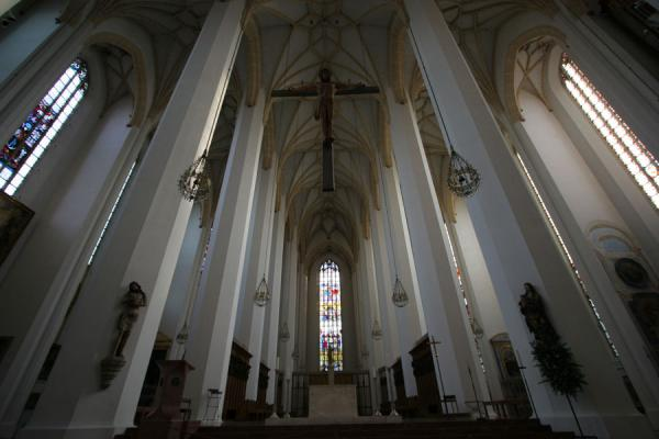 Interior of Frauenkirche where windows cannot be easily seen | Munich churches | Germany