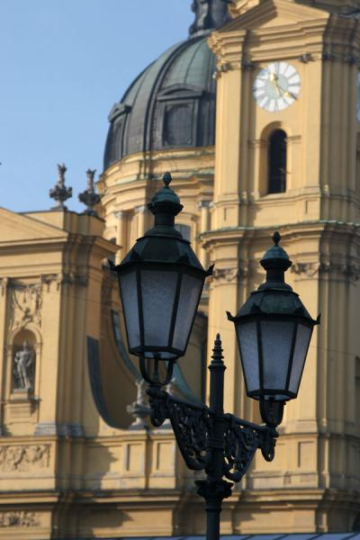Theatinerchurch with lanterns | Munich churches | Germany