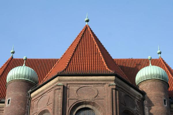 Domes and roof of St. Peter's church | Munich churches | Germany