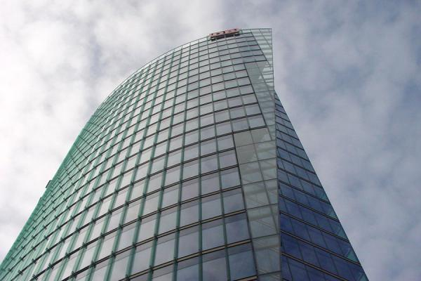 Picture of Potsdamer Platz (Germany): Deutsche Bahn building from below at Postdamer Platz