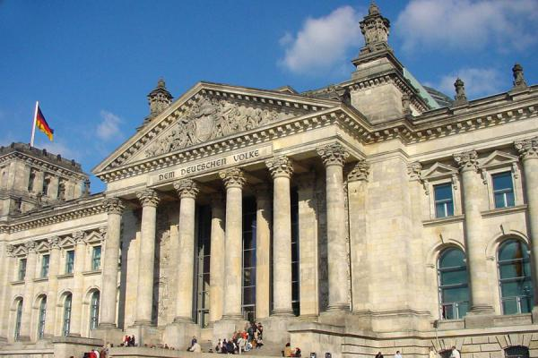 The facade of the Reichstag building, you can see the cupola | Reichstag | Germany