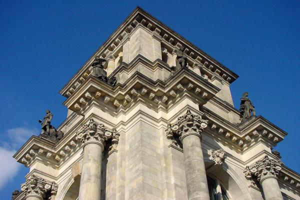 Corner of the old Reichstag building | Reichstag | Germany