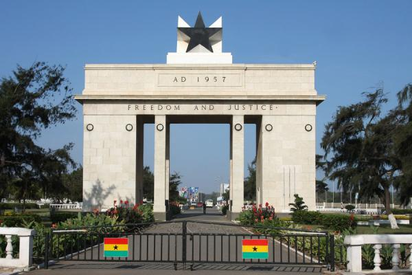 The Black Star Ghanaian Flag And Independence Monument