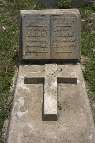 Picture of Ada Foah (Ghana): Old tomb at the cemetery of the Presbyterian church in Ada Foah