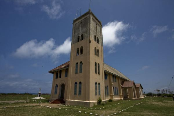 Picture of Ada Foah (Ghana): Side view of the old Presbyterian church in Ada Foah