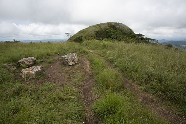 The last part of the trail heading up Mount Gemi | Avatime hills | Ghana