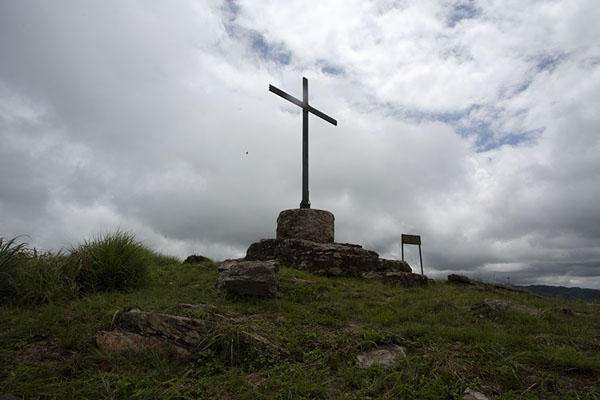 The iron cross atop Mount Gemi | Avatime hills | 迦衲