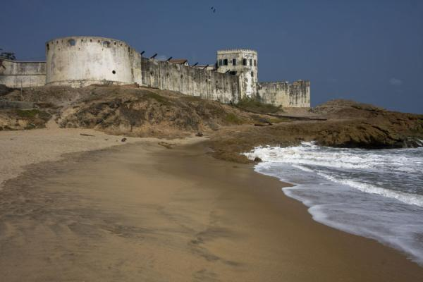 Picture of Cape Coast castle seen from the beachCape Coast - Ghana