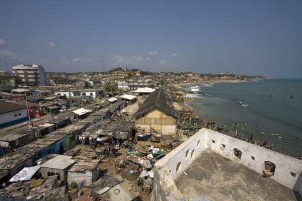 Looking east from atop Cape Coast castle | Cape Coast castle | Ghana