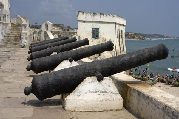 Cannons defending Cape Coast castle | Cape Coast castle | Ghana