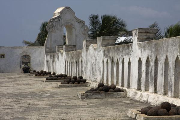 Cannonballs and wall of Cape Coast castle | Cape Coast castle | Ghana