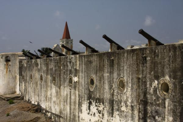 Cannons on a wall of Cape Coast castle | Cape Coast castle | Ghana