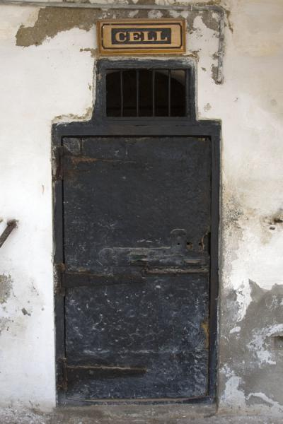 Picture of Original door to a cell in Cape Coast castle