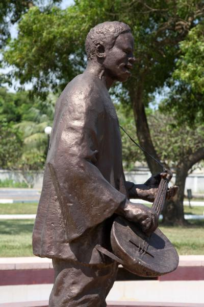 Statue of instrument player at the Mausoleum of Kwame Nkrumah | Kwame Nkrumah Mausoleum | Ghana