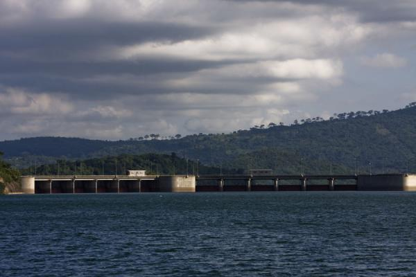 Picture of Lake Volta Cruise (Ghana): Mighty Akosombo Dam seen from Lake Volta