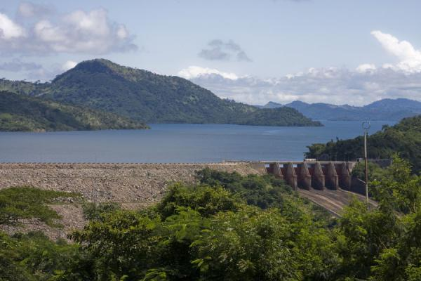 Akosombo Dam with the southern part of Lake Volta | Lake Volta Cruise | Ghana