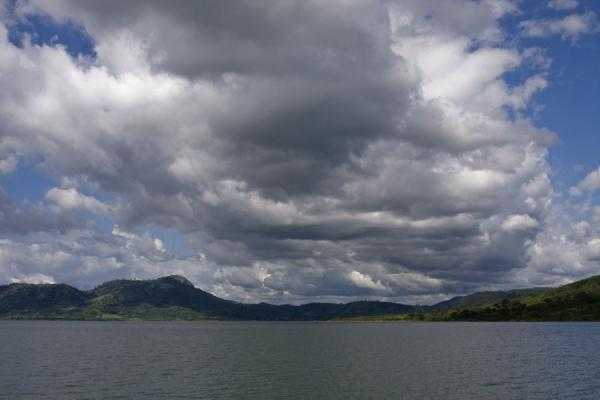 Clouds gathering over the coastline of Lake Volta | Lake Volta Cruise | Ghana