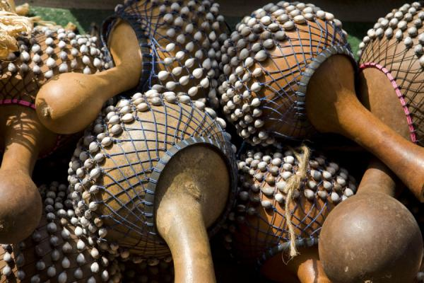 Picture of Timber market (Ghana): Traditional musical instruments