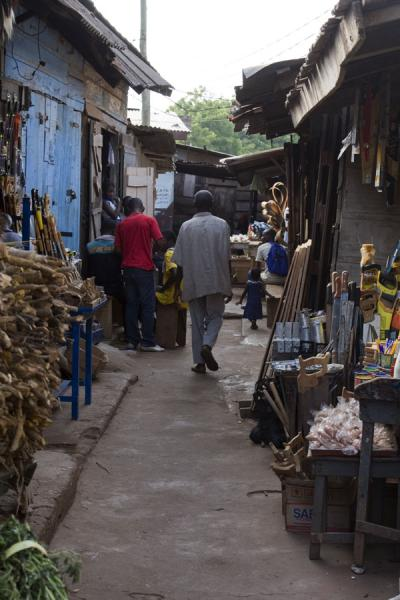 Picture of Timber market (Ghana): One of the alleys with market stalls