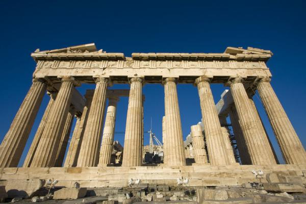 的照片 希腊 (Frontal view of the Parthenon, one of the best-known landmarks of the world)