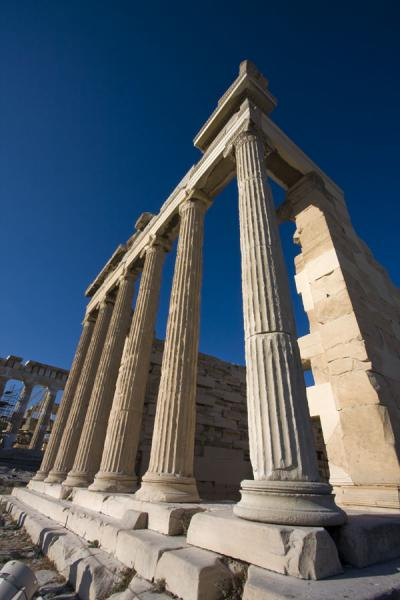 Foto di The facade of the Erechteum in the early morning lightAtene - Grecia