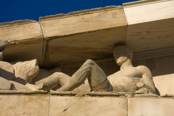 Foto van Detail of the frieze of the ParthenonAthene - Griekenland