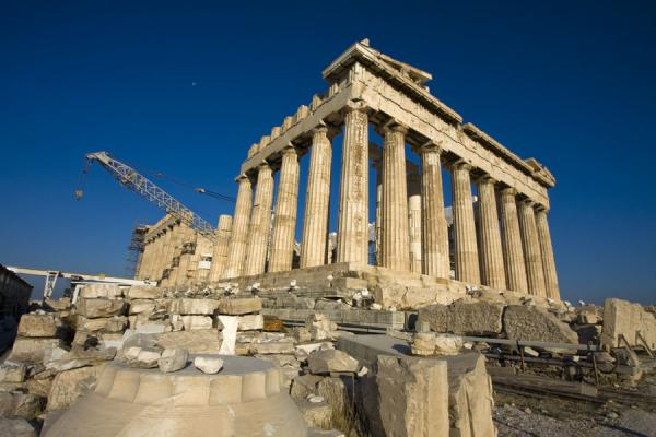 Foto di Side view of the ParthenonAtene - Grecia