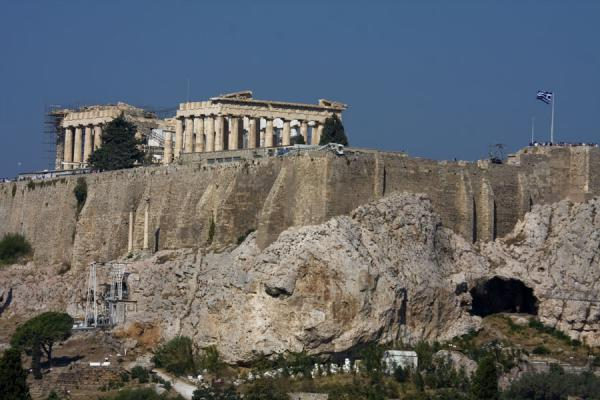 View of the Parthenon from above the new Olympic stadium | Acropolis | Greece