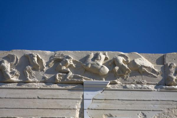 Detail of a frieze of one of the sanctuaries of the Acropolis | Acropolis | Greece