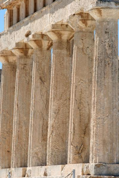 Some of the many standing columns of Aphaia Temple | Aphaia Temple | Greece