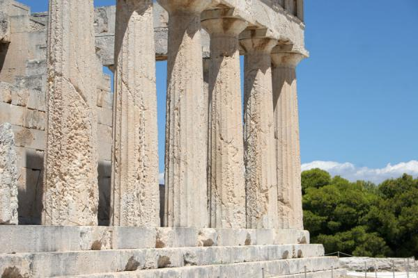 Part of the temple of Aphaia | Aphaia Temple | Greece