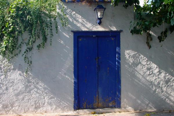 Picture of Blue and white door, Hydra