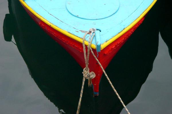Foto de One of the boats docked in the harbourHydra - Grecia