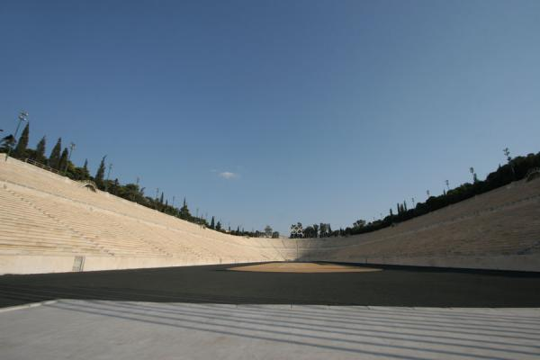 Picture of Panathinaiko Stadium (Greece): Panathinaiko Stadium seen from the main entrance