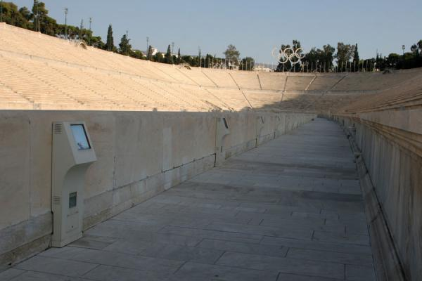 Photo de Modern technology in an ancient stadium at Panathinaiko StadiumAthènes - Grèce