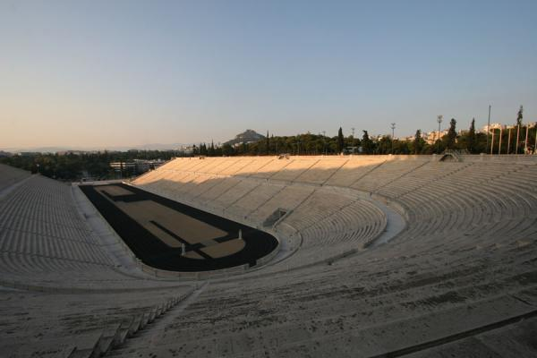 Photo de The enormous size of Kalimarmaron stadion is best appreciated from the topAthènes - Grèce