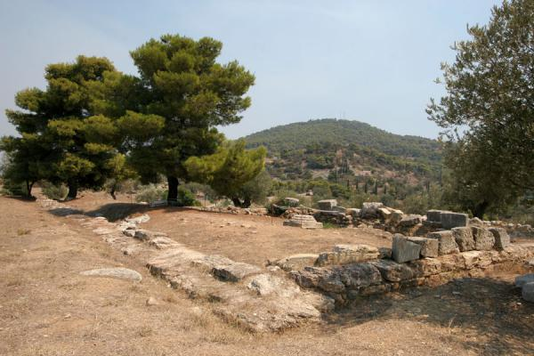 Foto van Ruins of the temple of PoseidonPoros - Griekenland
