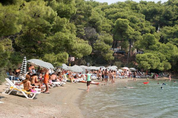 Love Bay, packed with day visitors | Poros | Greece
